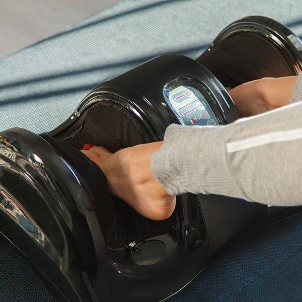 Массажер для ног (стоп и лодыжек) Bliss, пульт ДУ, роликовый тонизирующий массаж, черный