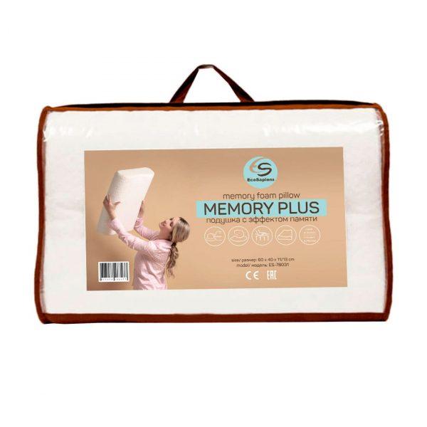 Memory PLUS ортопедическая подушка с эффектом памяти  (60x40х11/13 см)
