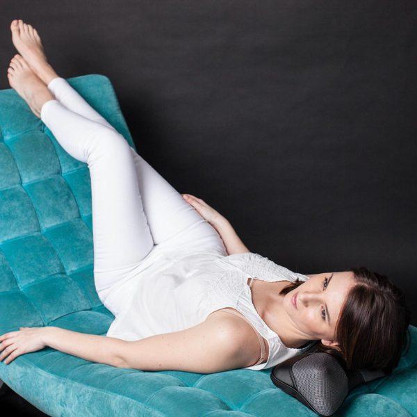 Массажная подушка UMINI, разминающий массаж, прогрев,съемный чехол, адаптер для сети/прикуривателя, RestArt