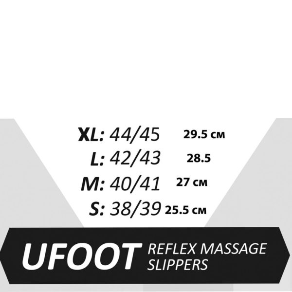 Массажные тапочки uFoot (M 40-41), массаж стоп, акупунктурный массаж, регулировка по ширине, GESS