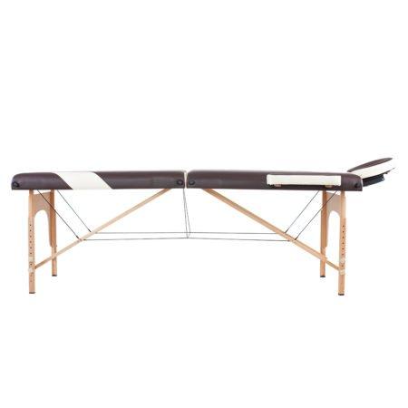 EcoSapiens переносной двухсекционный массажный стол на основе из бука Simplex