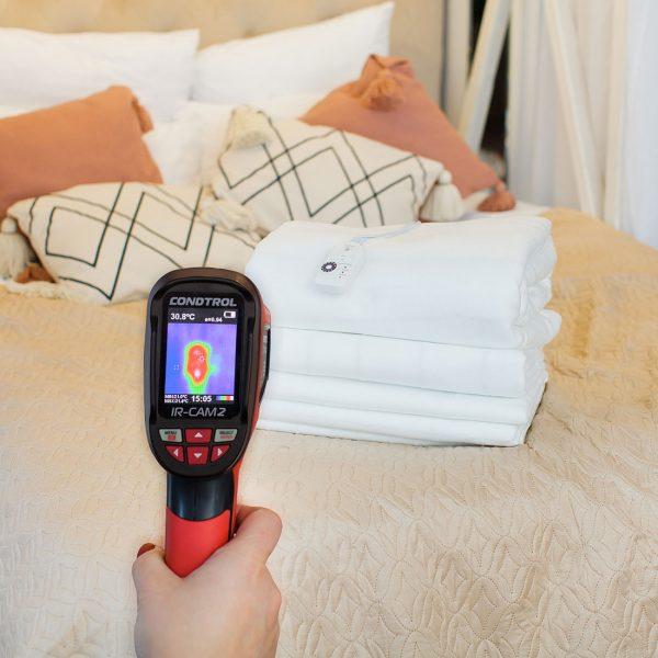 Электропростынь Согревай-ка 150*120 см, EcoSapiens, инфракрасный прогрев, 9 режимов, автоотключение, карбоновый нагревательный элемент, пульт ДУ, ES-401
