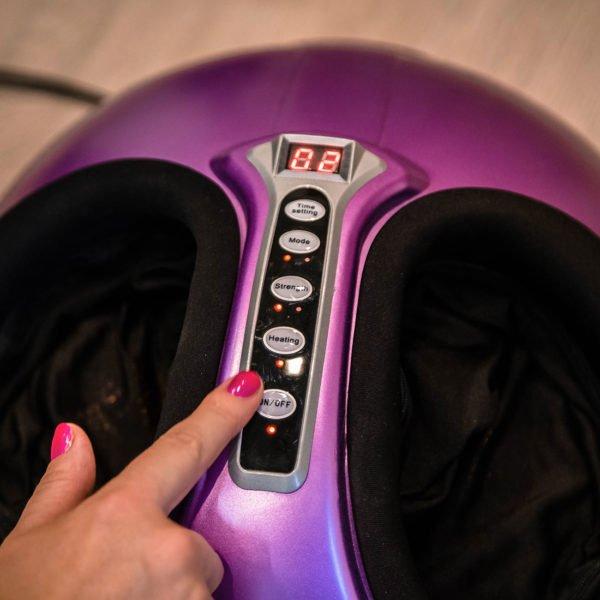 Массажер для ног Bolide (сиреневый), роликовый массаж, воздушно-компрессионный массаж, прогрев, автоматическое отключение, GESS