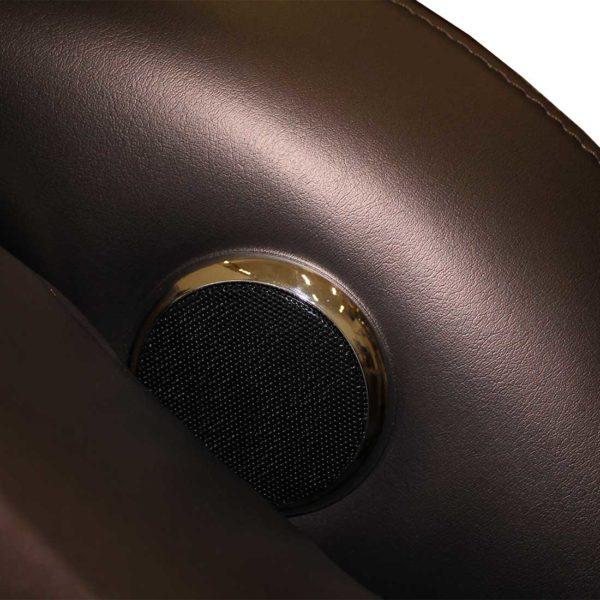 Массажное кресло Bend коричневое, L-образная каретка, USB, колонки, массаж фиксированной точки, прогрев GESS