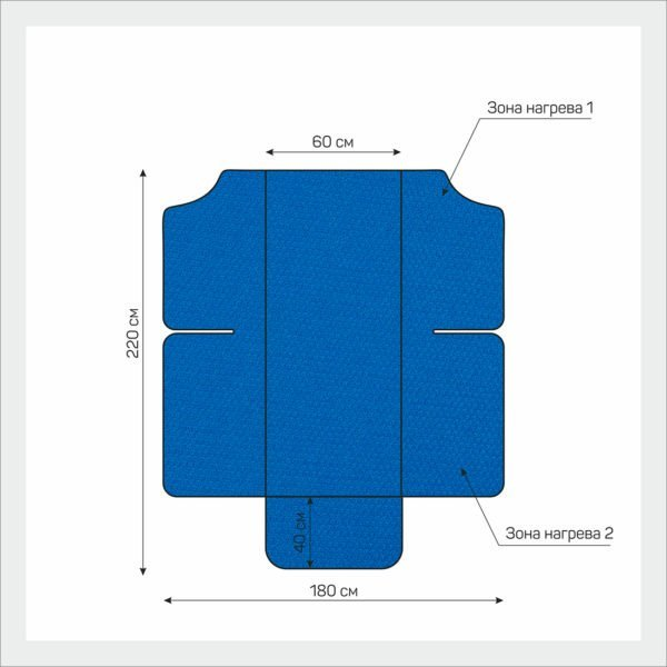 Одеяло с подогревом для косметологии Infralight 180*220 см, EcoSapiens, 2 зоны прогрева, 1 пульт управления, 9 режимов, инфракрасный прогрев, двухзонное электроодеяло ES-300