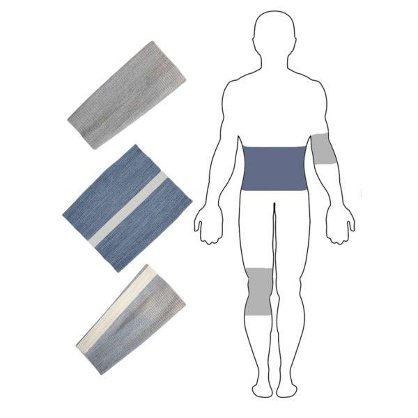 Комплект бандажей с шерстью овцы Здоровье №3(M)