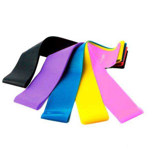 Flex Set резинки для фитнеса, 5 шт. в комплекте, разный вес