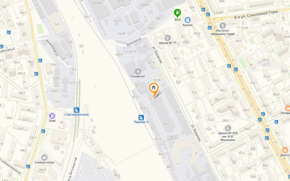 Схема проезда на склад - Москва