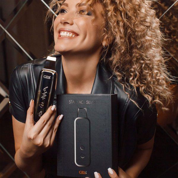 Star Face Silver прибор для ультразвуковой чистки лица
