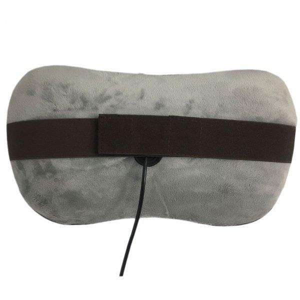 Массажная подушка uShiatsu Grey, роликовый массаж, 3D массаж,подогрев, сеть, автоадаптер, автоотключение GESS