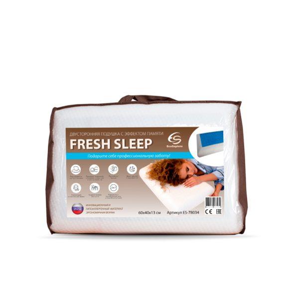 Fresh Sleep двухсторонняя гелевая подушка с эффектом памяти (60х40х13 см)