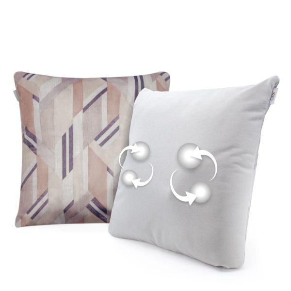 Беспроводная массажная интерьерная подушка GESS Decora - бежево-коричневая