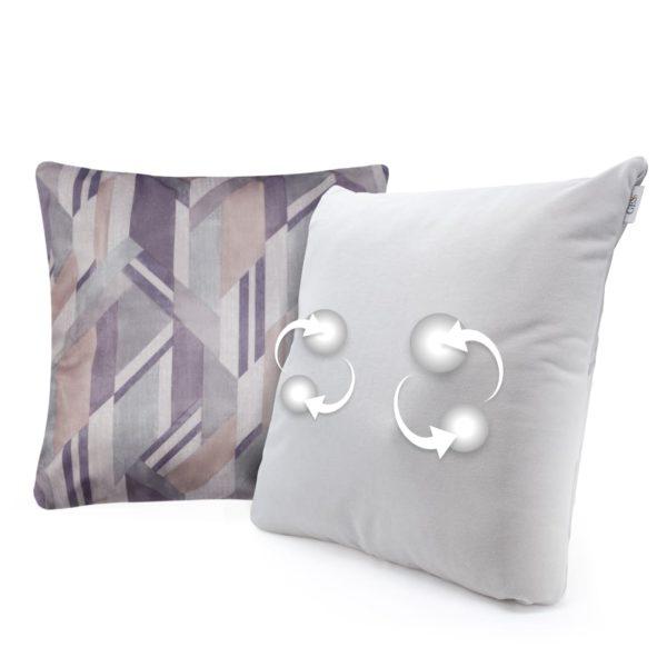 Беспроводная массажная интерьерная подушка GESS Decora - серая