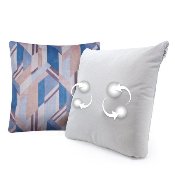 Беспроводная массажная интерьерная подушка GESS Decora - синяя